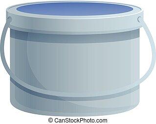Glue bucket icon, cartoon style