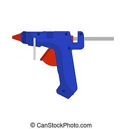 Glue gun vector adhesive icon craft equipment tool. Hot ...