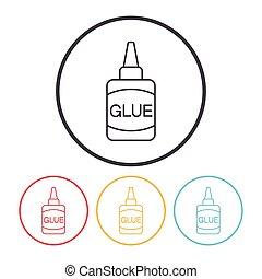 glue line icon