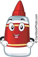 Glue Mascot - Mascot Illustration Featuring a Bottle of Glue