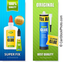 Glue Realistic Banners - Best quality fix all glue bottles...