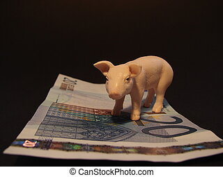 The pig symbolizes fortune and a lot of money.