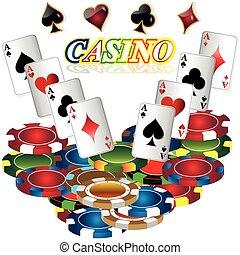gluecksspiel, hintergrund, mit, kasino, elements.