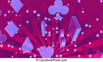 gluecksspiel, in, rotes , blau, schlingen, cg, abstrakt,...