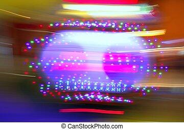 gluecksspiel, kasino, bewegungszittern, bunte, lichter