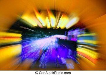 gluecksspiel, kasino, zoom, verwischt, lichter