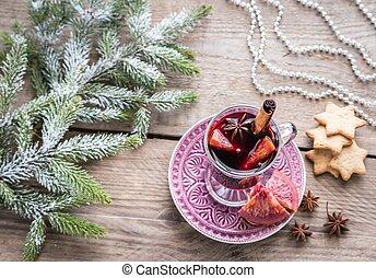 gluehwein, auf, weihnachtsabend
