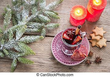 gluehwein, vorabend, weihnachten
