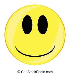 Glum Smile Face Button Isolated