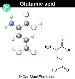 Glutamic acid chemical structure - Glutamic acid - main...