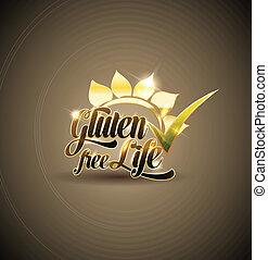Gluten free background design  Bold and bright