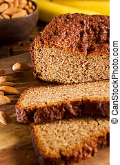 Gluten Free Banana Bread - Gluten free banana bread made of...