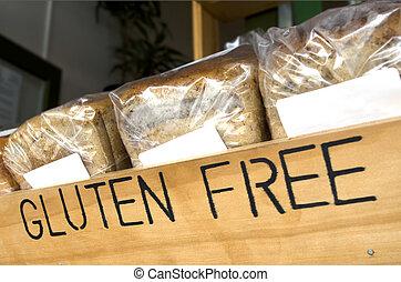 Gluten Free Bread - Gluten Free loaf of breads on display in...