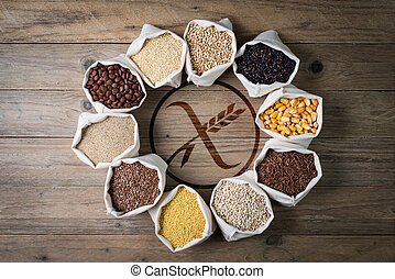 Gluten free cereals and seeds with logo - cereali senza ...