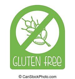 gluten free design, vector illustration eps10 graphic