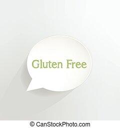 Illustration of gluten free icon concept