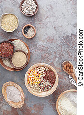 Gluten free grains and flours