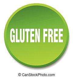 gluten free green round flat isolated push button