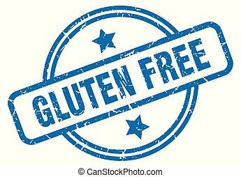 gluten free grunge stamp