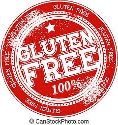 gluten free grunge stamp vector