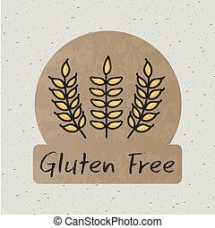 gluten free label over beige background vector illustration