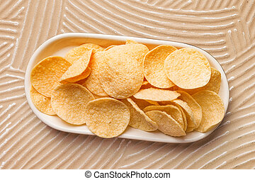 Gluten-free lightly salted chickpea chips. - Organic hummus ...