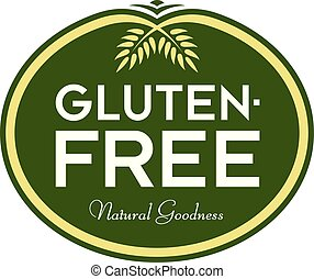 Gluten-Free Natural Goodness Logo Symbol