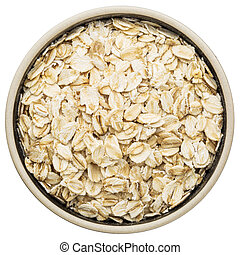 organic rolled oats - gluten free, organic rolled oats in a ...