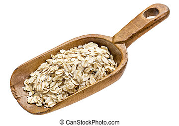 organic rolled oats - gluten free, organic rolled oats on a ...