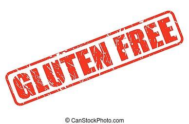 Gluten free red stamp text