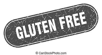 gluten free sign. gluten free grunge black stamp. Label