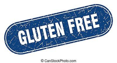 gluten free sign. gluten free grunge blue stamp. Label