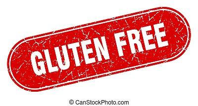 gluten free sign. gluten free grunge red stamp. Label