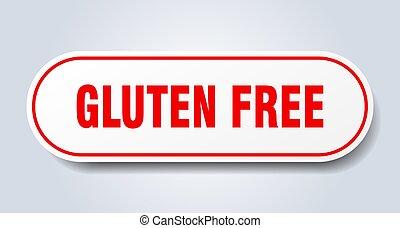 gluten free sign. gluten free rounded red sticker. gluten free