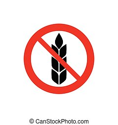 gluten free sign no wheat sign