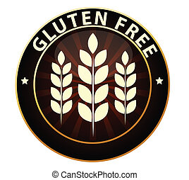 Gluten free sign - Gluten free food packaging sign Can be...