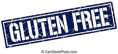 gluten free square grunge stamp