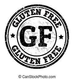 Gluten free grunge rubber stamp on white, vector illustration