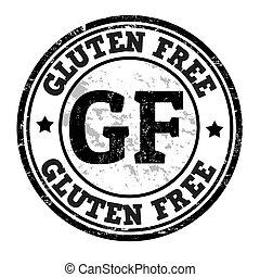Gluten free grunge rubber stamp on white, vector illustration