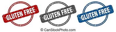 gluten free stamp. gluten free sign. gluten free label set