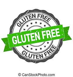 Gluten free stamp. Round grunge vintage ribbon. Gluten free sign