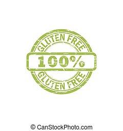 GLUTEN FREE stamp sign.