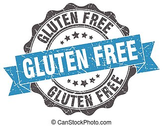 gluten free stamp. sign. seal
