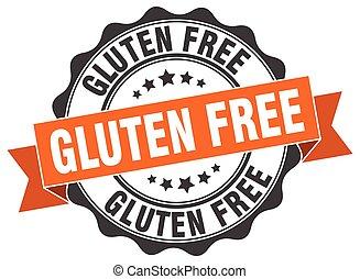 gluten free stamp. sign. seal