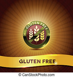 Gluten free symbol and bright background. Harmonic color combinations.