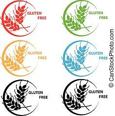 Gluten free symbol on white background