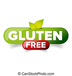 Gluten Free vector button