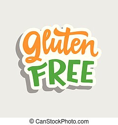 Gluten free vector label sticker