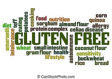 Gluten Free word cloud on white background