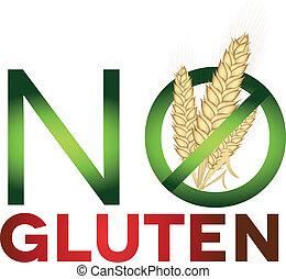 gluten, zeichen, frei, gesundheit, diät, sorgfalt